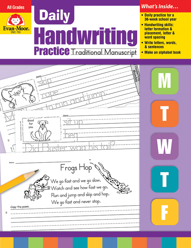 Picture of Daily Handwriting Practice: Traditional Manuscript, Grades K-6 - Teacher's Edition, E-book