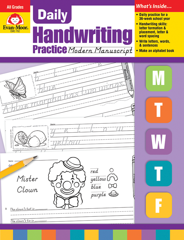 Picture of Daily Handwriting Practice: Modern Manuscript, Grades K-6 - Teacher's Edition, E-book