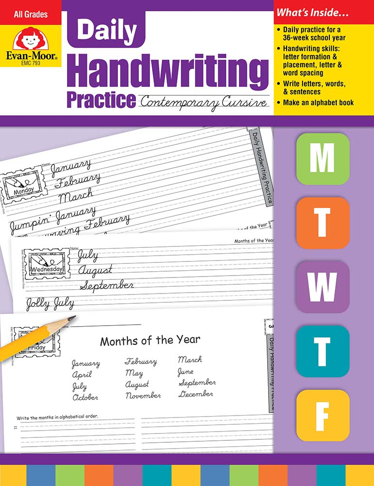Picture of Daily Handwriting Practice: Contemporary Cursive, Grades K-6 - Teacher's Edition, Print