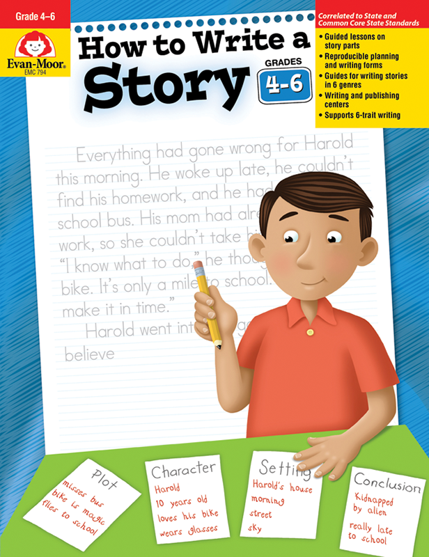 Picture of How to Write A Story, Grades 4-6 - Teacher Reproducibles, E-book