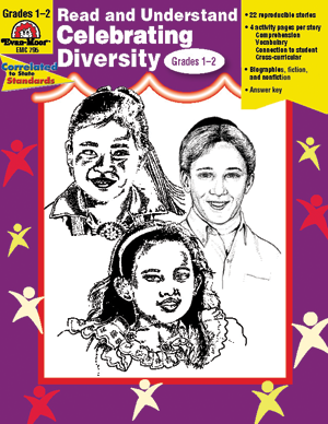 Picture of Read and Understand Celebrating Diversity, Grades 1-2 - Teacher Reproducibles, E-book