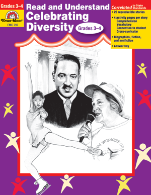 Picture of Read and Understand Celebrating Diversity, Grades 3-4 - Teacher Reproducibles, E-book