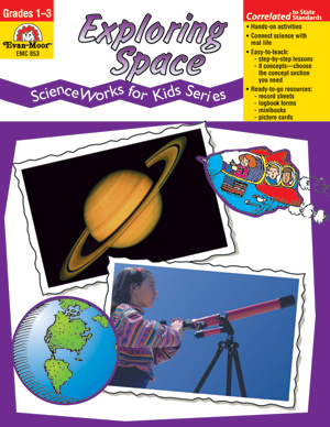 Picture of ScienceWorks for Kids: Exploring Space, Grades 1-3 - Teacher Reproducibles, Print