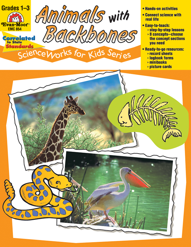 Picture of ScienceWorks for Kids: Animals with Backbones, Grades 1-3 - Teacher Reproducibles, E-book
