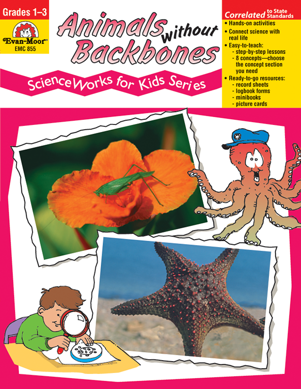 Picture of ScienceWorks for Kids: Animals Without Backbones, Grades 1-3 - Teacher Reproducibles, E-book
