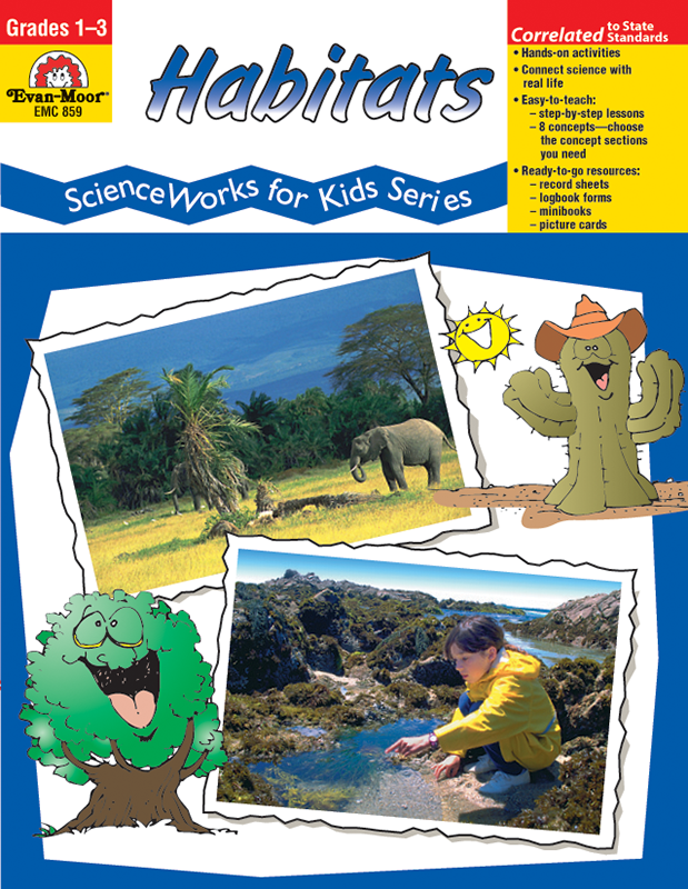 Picture of ScienceWorks for Kids: Habitats, Grades 1-3 - Teacher Reproducibles, E-book