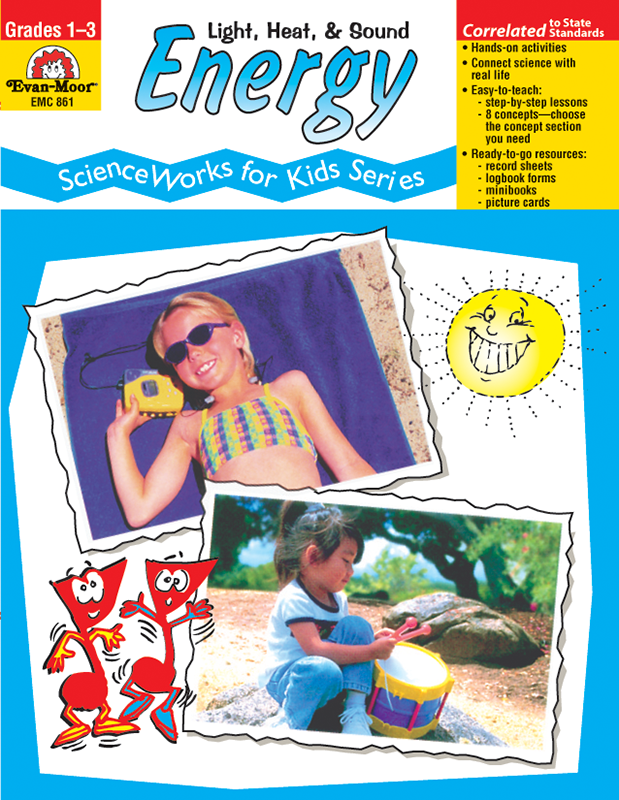 Picture of ScienceWorks for Kids: Energy - Heat, Light, & Sound, Grades 1-3 - Teacher Reproducibles, E-book