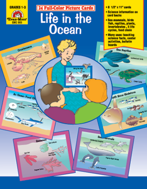 Picture of Science Picture Cards: Life in the Ocean, Grades K-2 - Teacher Reproducibles, E-book