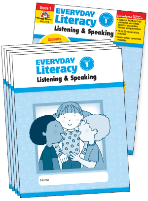 Picture of Everyday Literacy: Listening and Speaking, Grade 1 - Class Pack