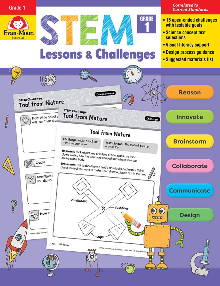 Picture of STEM Lessons and Challenges, Grade 1 - Teacher Reproducibles, Print