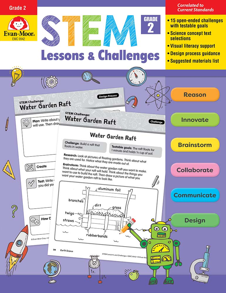 Picture of STEM Lessons and Challenges, Grade 2 - Teacher Reproducibles, Print