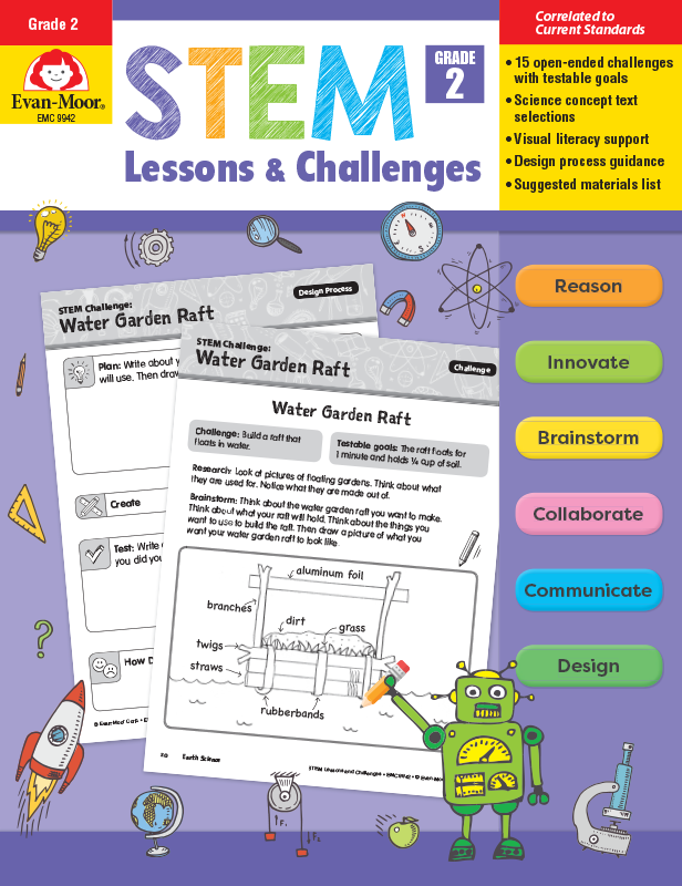 Picture of STEM Lessons and Challenges, Grade 2 - Teacher Reproducibles, E-book
