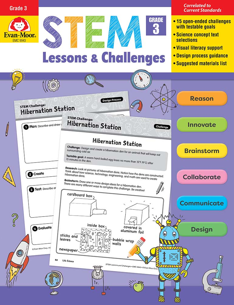 Picture of STEM Lessons and Challenges, Grade 3 - Teacher Reproducibles, Print