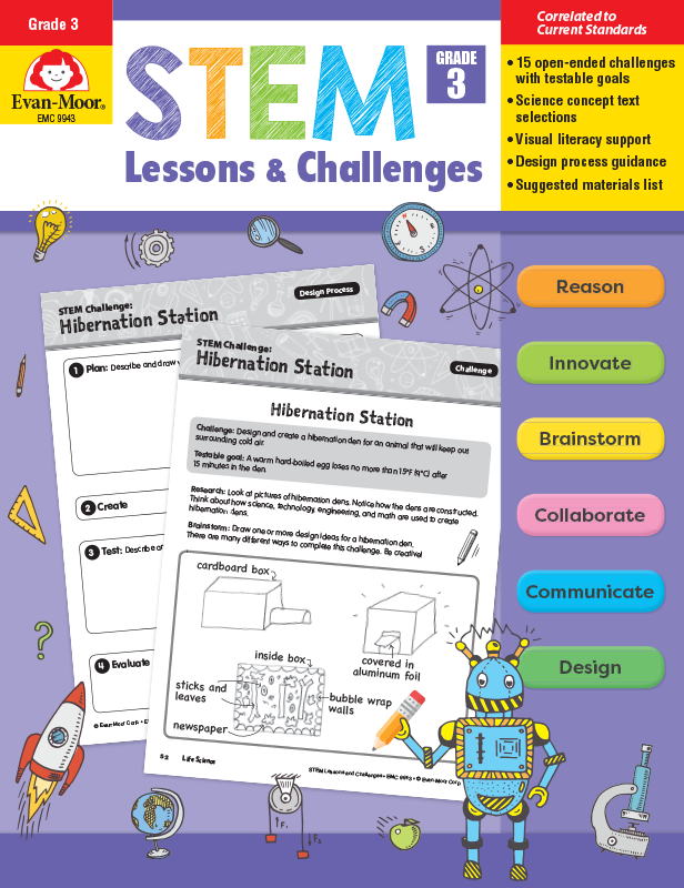 Picture of STEM Lessons and Challenges, Grade 3 - Teacher Reproducibles, E-book