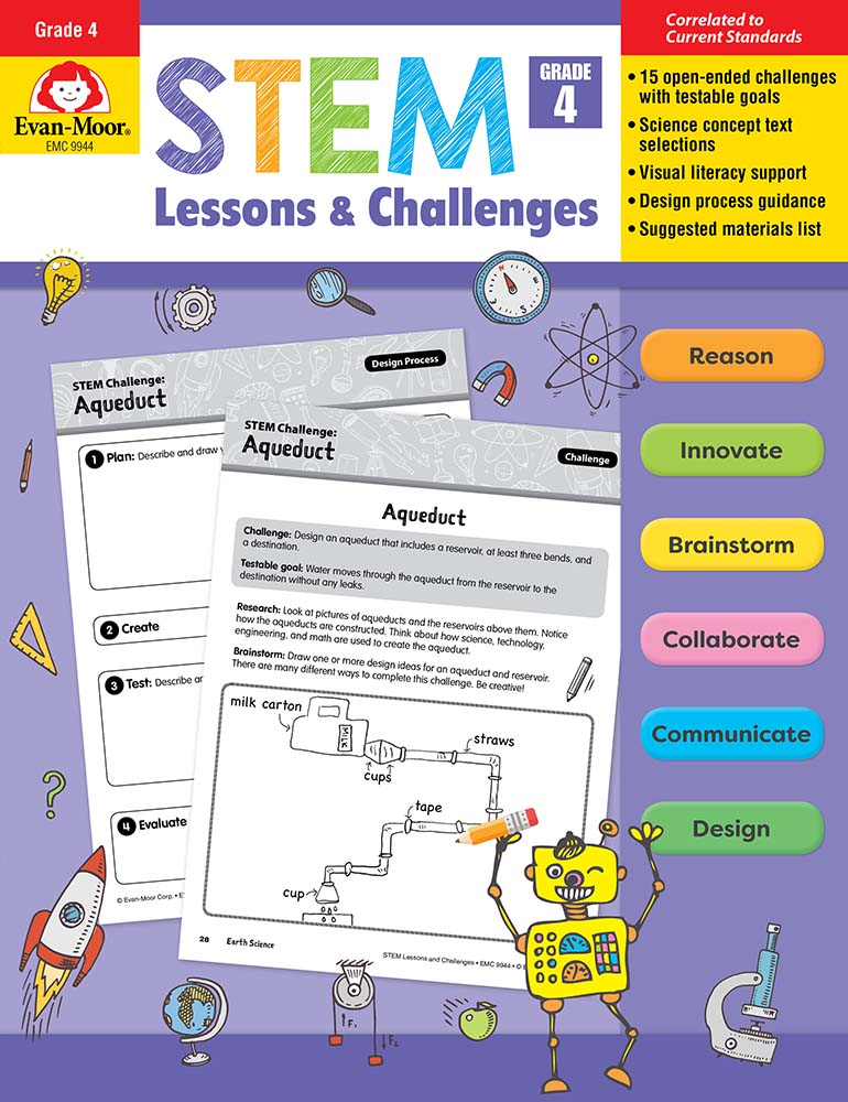 Picture of STEM Lessons and Challenges, Grade 4 - Teacher Reproducibles, Print