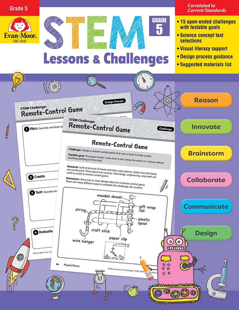 Picture of STEM Lessons and Challenges, Grade 5 - Teacher Reproducibles, Print