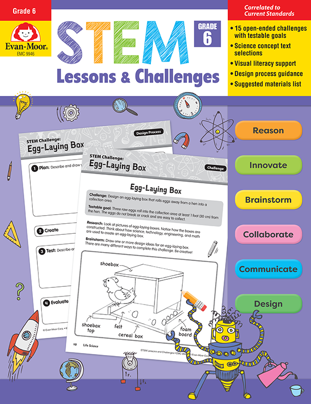 Picture of STEM Lessons and Challenges, Grade 6 - Teacher Reproducible, E-book