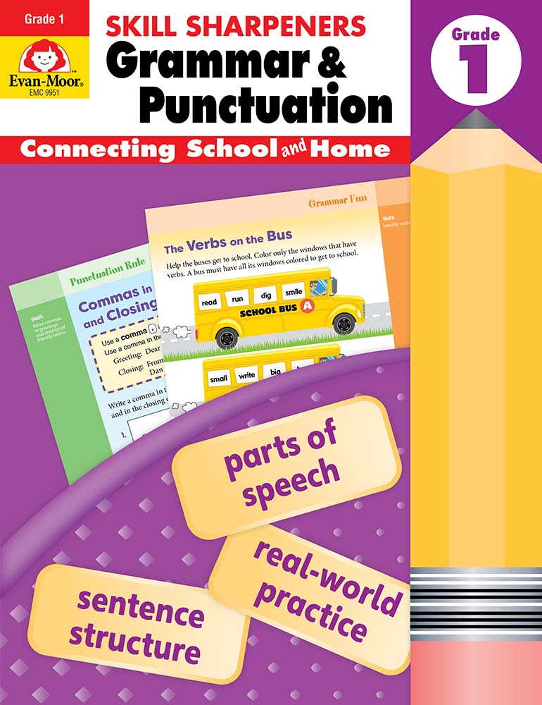 Picture of Skill Sharpeners: Grammar & Punctuation, Grade 1 - Activity Book