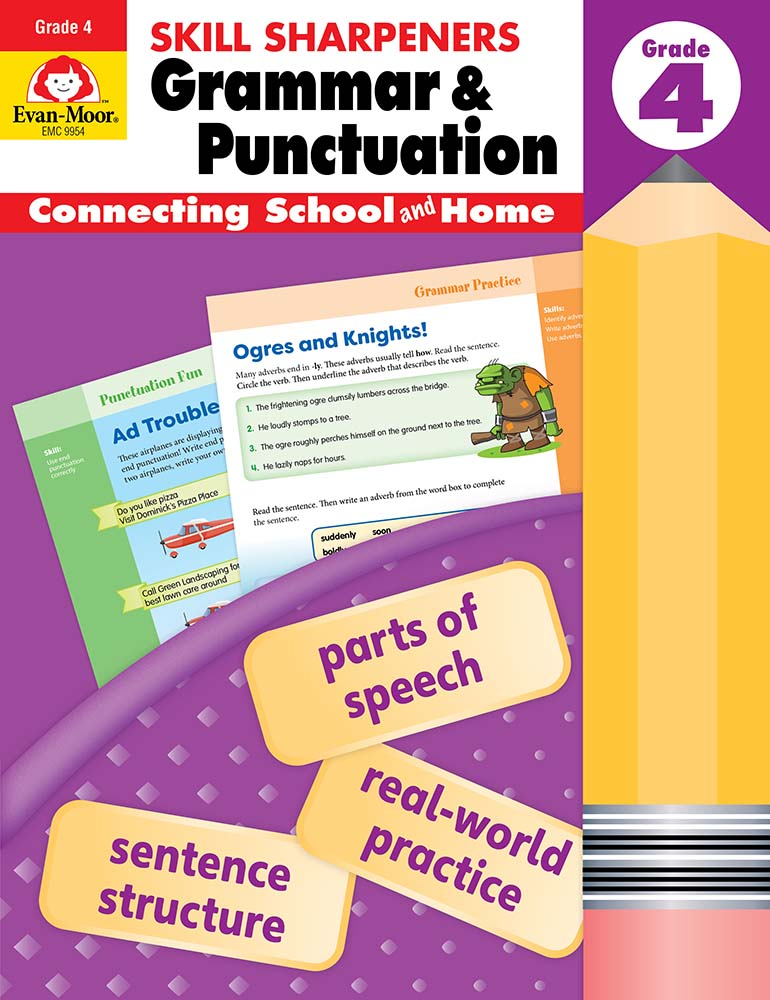 Picture of Skill Sharpeners: Grammar & Punctuation, Grade 4 - Activity Book