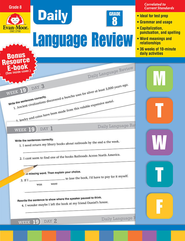 Daily Language English Review Resources Grade 8 – Evan-Moor