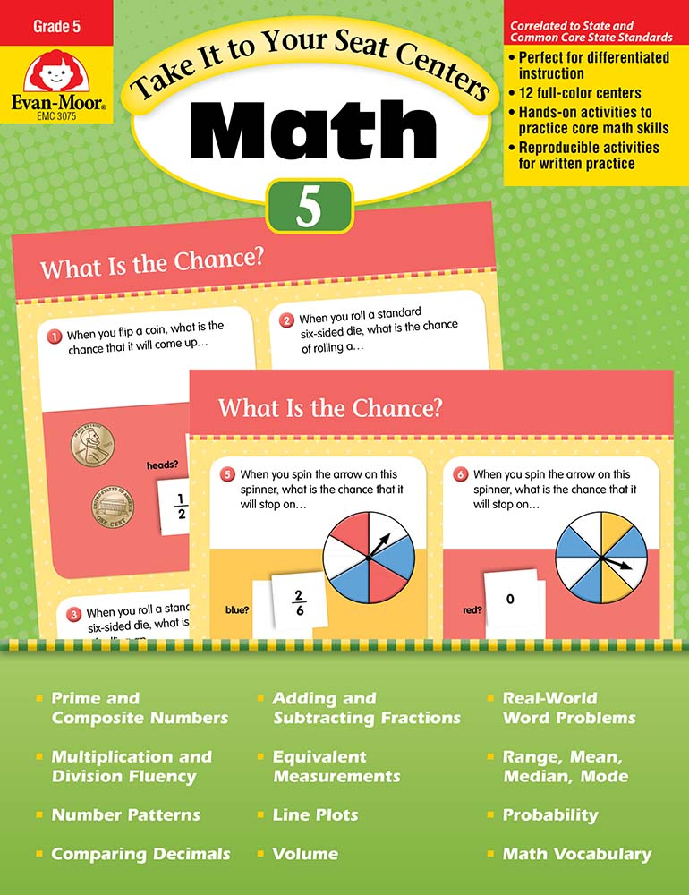 Take It to Your Seat | Common Core Fifth Grade Math Centers