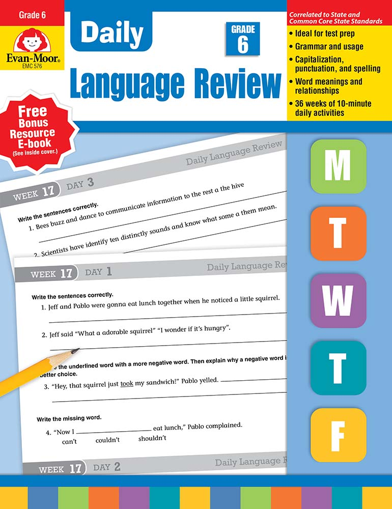 Daily language review grade 6 print teachers edition evan moor fandeluxe Images