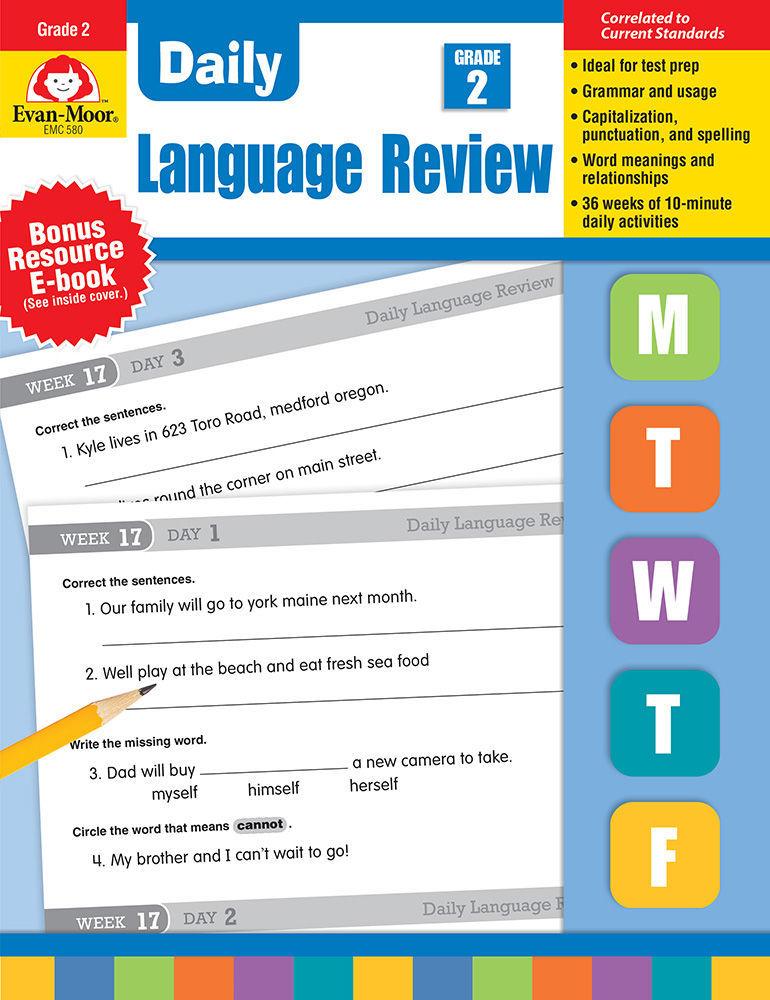 Daily Language Review Resources Grade 2 – Evan-Moor