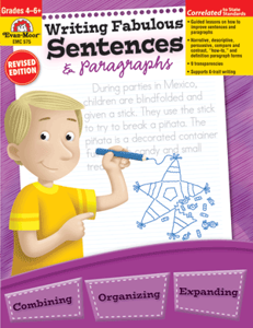 Picture of Writing Fabulous Sentences & Paragraphs, Grades 4-6 - Teacher Reproducibles, Print