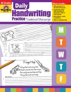 Picture of Daily Handwriting Practice: Traditional Manuscript, Grades K-6 - Teacher's Edition, Print