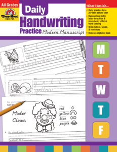 Picture of Daily Handwriting Practice: Modern Manuscript, Grades K-6 - Teacher's Edition, Print
