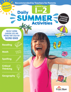 Picture of Daily Summer Activities: Between Grades 1st Grade and 2nd Grade, Grades 1-2 - Activity Book