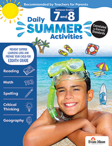 Picture of Daily Summer Activities: Between Grades 7th Grade and 8th Grade, Grades 7-8 - Activity Book