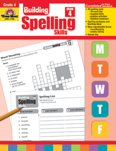 Picture of Building Spelling Skills, Grade 4 - Teacher's Edition, Print