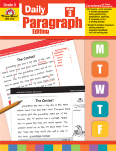 Picture of Daily Paragraph Editing, Grade 3 - Teacher's Edition, Print