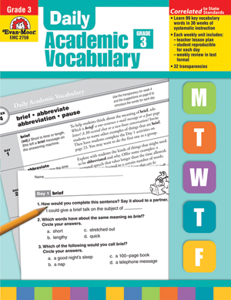 Picture of Daily Academic Vocabulary, Grade 3 - Teacher's Edition, Print