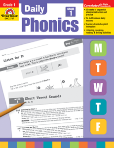 Picture of Daily Phonics, Grade 1 - Teacher's Edition, Print