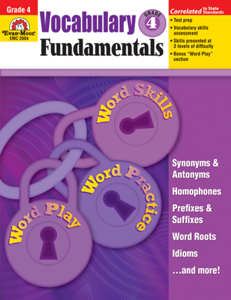 Picture of Vocabulary Fundamentals, Grade 4 - Teacher Reproducibles, Print