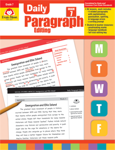 Picture of Daily Paragraph Editing, Grade 7 - Teacher's Edition, Print