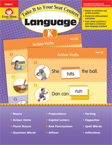 Picture of Take It to Your Seat: Language Centers, Grade K - Teacher Reproducibles, Print