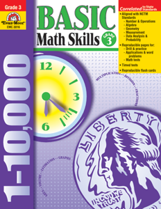 Picture of Basic Math Skills, Grade 3 - Teacher Reproducibles, Print
