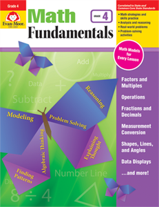 Picture of Math Fundamentals, Grade 4 - Teacher Reproducibles, Print