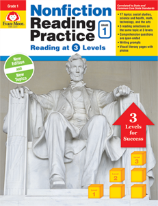 Picture of Nonfiction Reading Practice, Grade 1 - Teacher Reproducibles, Print
