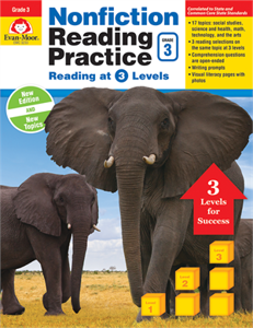 Picture of Nonfiction Reading Practice, Grade 3 - Teacher Reproducibles, Print