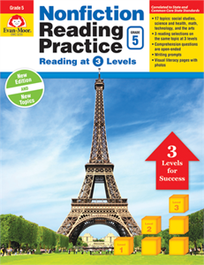 Picture of Nonfiction Reading Practice, Grade 5 - Teacher Reproducibles, Print
