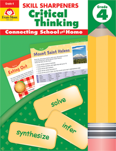 Picture of Skill Sharpeners: Critical Thinking, Grade 4 - Activity Book