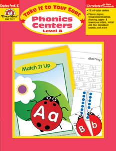 Picture of Take It to Your Seat: Phonics Centers, Grades PreK-K (Level A) - Teacher Resource, Print