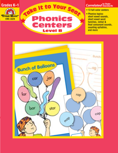 Picture of Take It to Your Seat: Phonics Centers, Grades K-1 (Level B) - Teacher Resource, Print