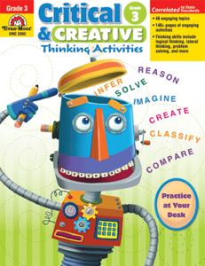 Picture of Critical and Creative Thinking Activities, Grade 3 - Teacher Reproducibles, Print