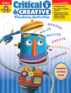 Picture of Critical and Creative Thinking Activities, Grade 6 - Teacher Reproducibles, Print