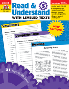 Picture of Read and Understand with Leveled Texts, Grade 5 - Teacher Reproducibles, Print